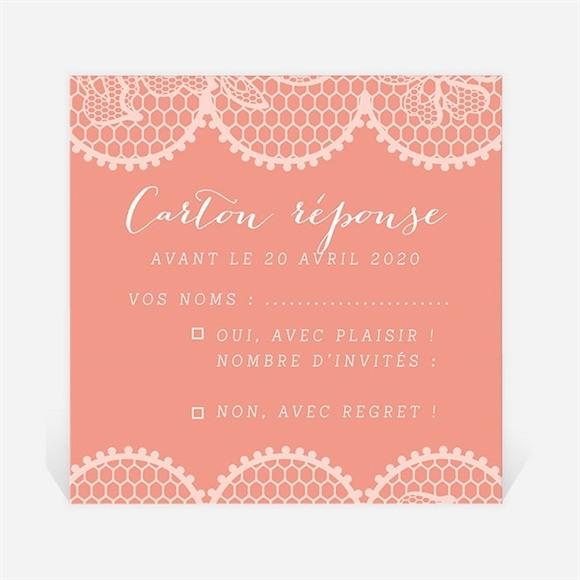 Carton réponse mariage Corail original réf.N300993