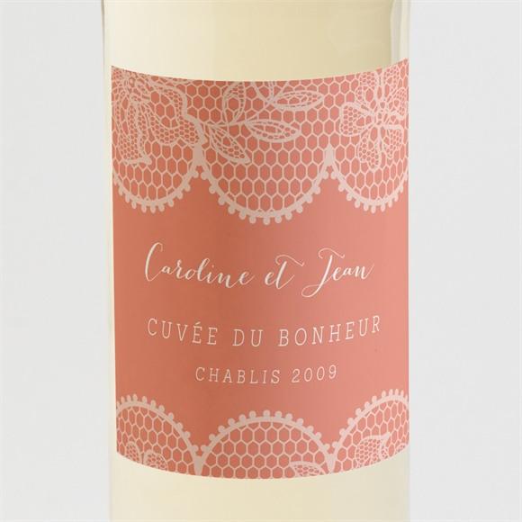 Etiquette de bouteille mariage Corail original réf.N300994