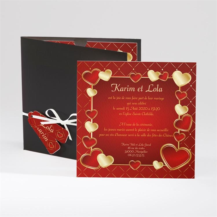 Faire-part mariage Romantique et festif réf.N91014