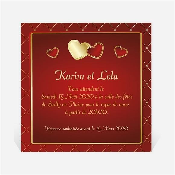 Carton d'invitation mariage Romantique et festif réf.N300989