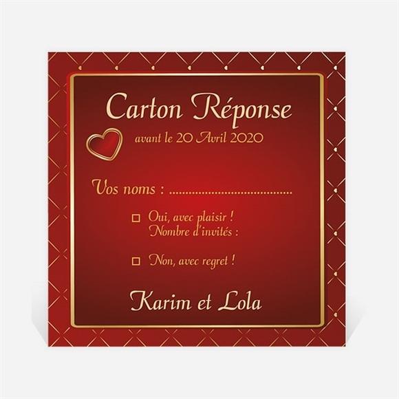 Carton réponse mariage Romantique et festif réf.N300990