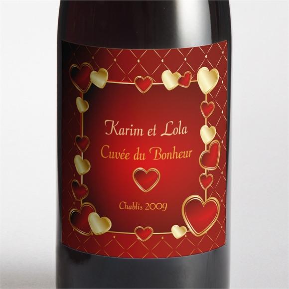 Etiquette de bouteille mariage Romantique et festif réf.N300991