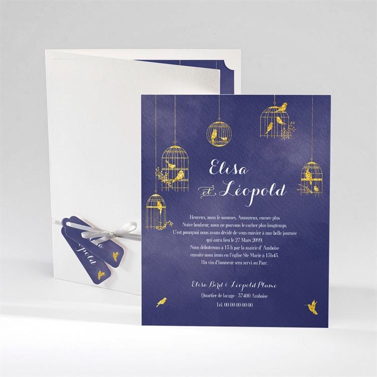 Faire-part mariage Bleu nuit réf.N92025