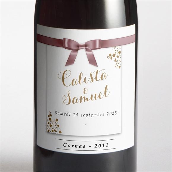 Etiquette de bouteille mariage Beauté du Gris réf.N3001003