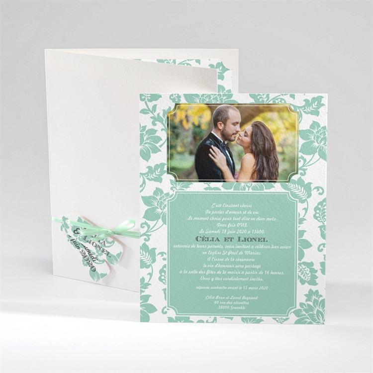 Faire-part mariage Vert Amande réf.N92027