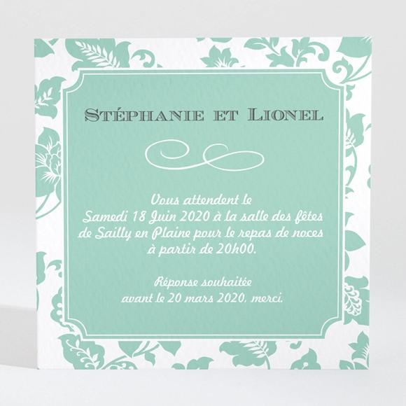 Carton d'invitation mariage Vert Amande réf.N3001004