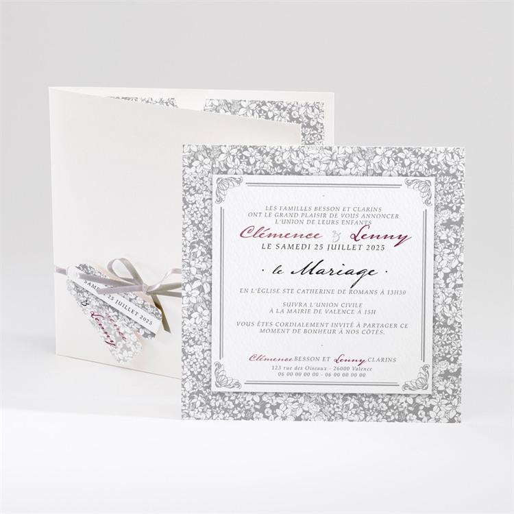 Faire-part mariage Floral et romantique réf.N91015
