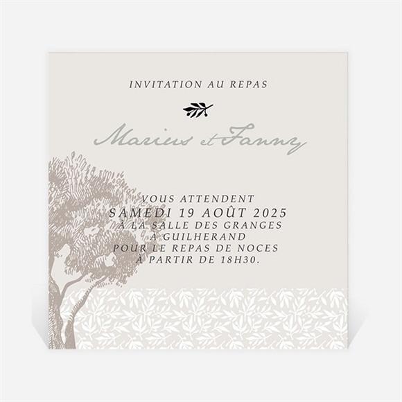 Carton d'invitation mariage Nature raffinée réf.N3001010