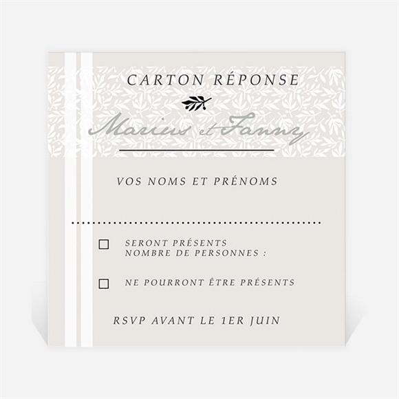 Carton réponse mariage Nature raffinée réf.N3001011