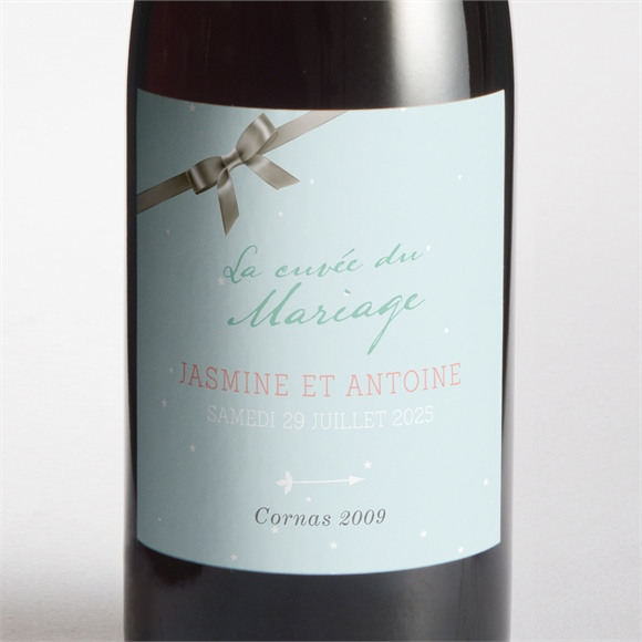 Etiquette de bouteille mariage Notre conte de fée réf.N3001018