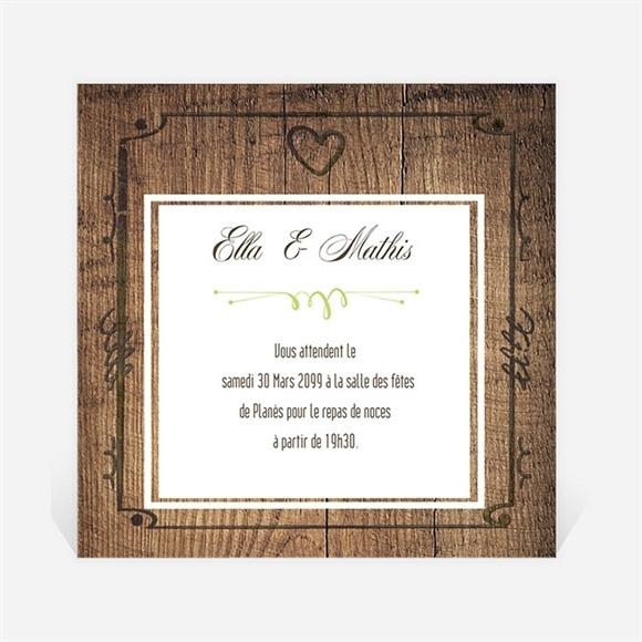 Carton d'invitation mariage Boisé rustique chic réf.N300995