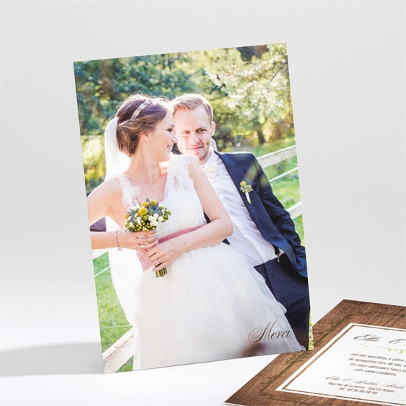 Remerciement mariage Boisé rustique chic réf.N211104
