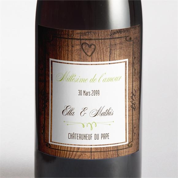 Etiquette de bouteille mariage Boisé rustique chic réf.N300997