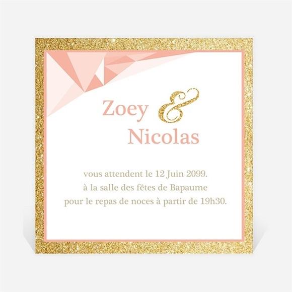 Carton d'invitation mariage Formes géométriques tendance réf.N3001019