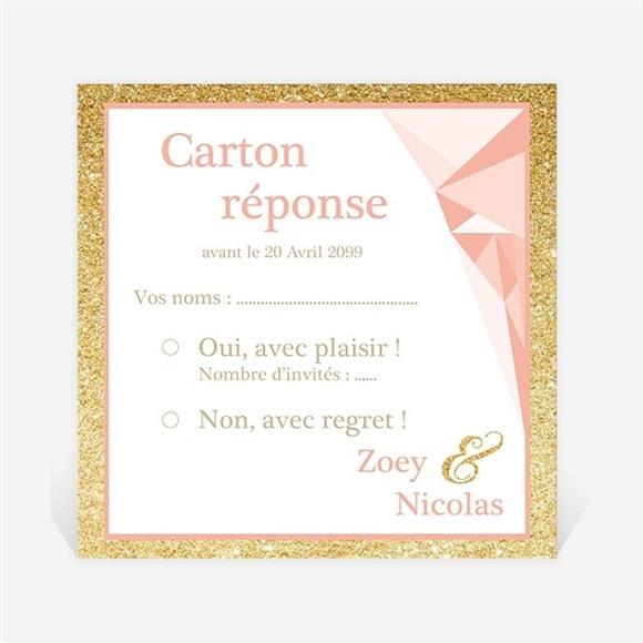 Carton réponse mariage Formes géométriques tendance réf.N3001020