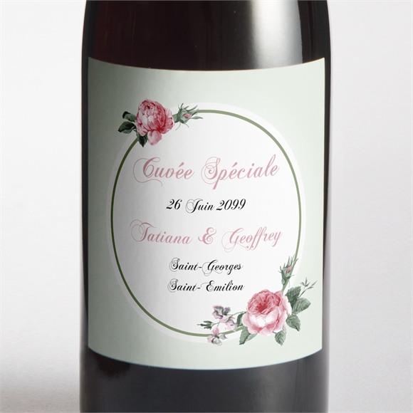 Etiquette de bouteille mariage Garden Party réf.N3001027