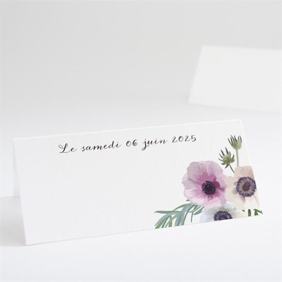 Marque-place mariage Couronne fleurs violettes réf.N440541