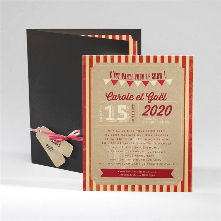Faire-part mariage Le Cirque réf.N92030