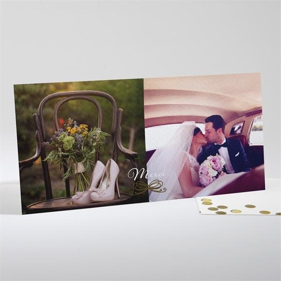 Remerciement mariage Pluie de confettis dorés réf.N13154