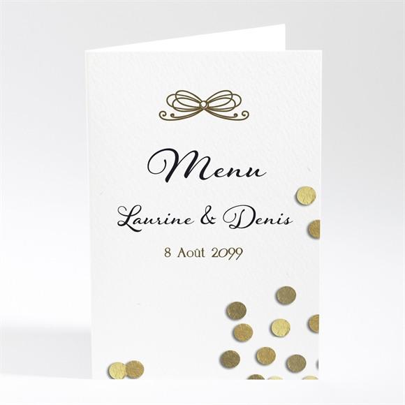 Menu mariage Pluie de confettis dorés réf.N401663