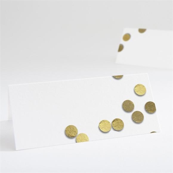 Marque-place mariage Pluie de confettis dorés réf.N440545