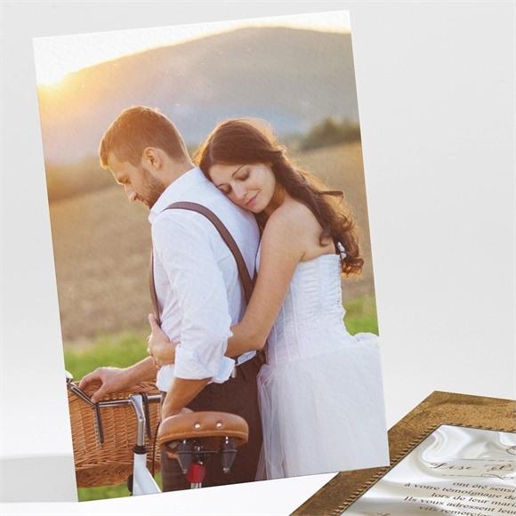 Remerciement mariage Cadre cuivré réf.N211101