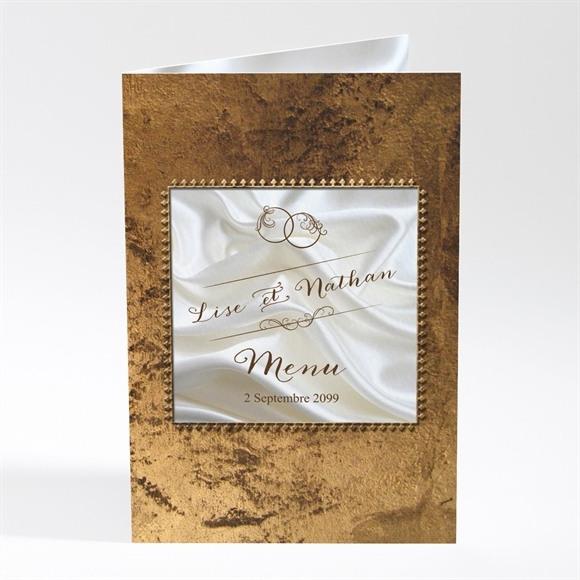 Menu mariage Cadre cuivré réf.N401639