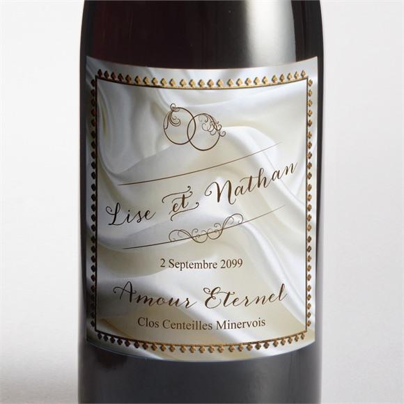 Etiquette de bouteille mariage Cadre cuivré réf.N300964