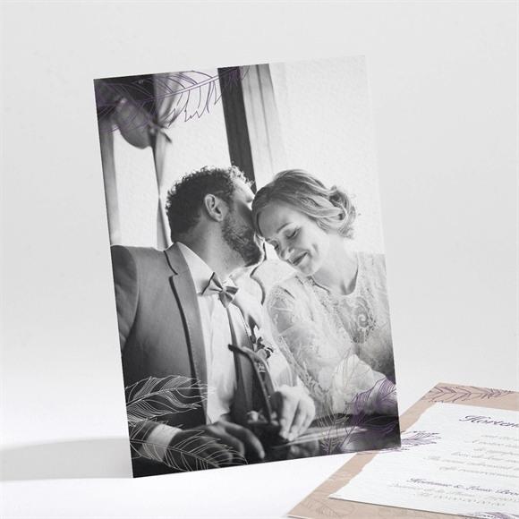 Remerciement mariage Jolies plumes réf.N211107