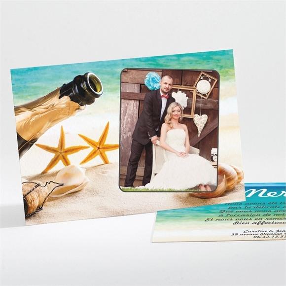 Remerciement mariage Paradisiaque réf.N111123