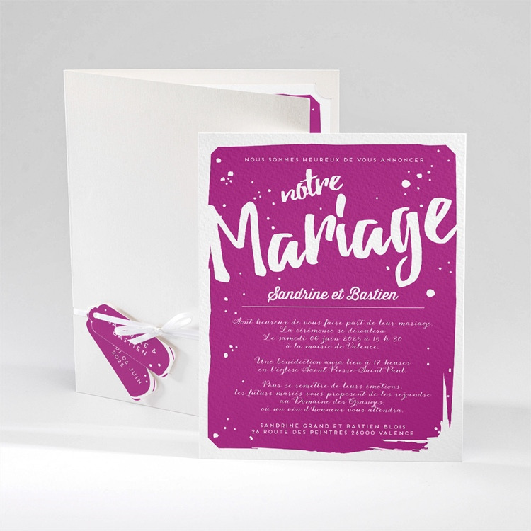 Faire-part mariage Notre Mariage réf.N92033
