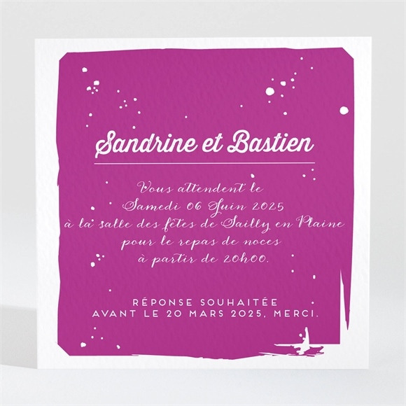 Carton d'invitation mariage Notre Mariage réf.N3001043