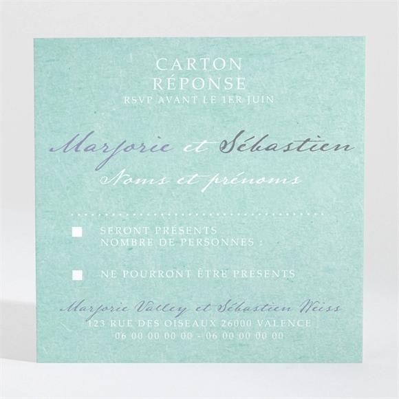 Carton réponse mariage Joli Manège vintage réf.N3001049