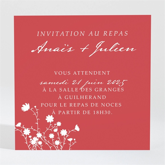 Carton d'invitation mariage Kraft et orange réf.N3001051