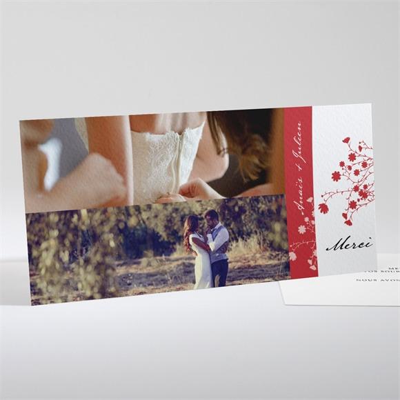 Remerciement mariage Kraft et orange réf.N13157