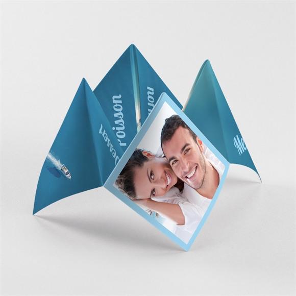 Menu mariage Eaux turquoises cocotte réf.N33016
