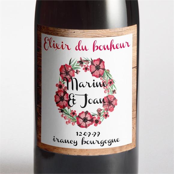 Etiquette de bouteille mariage réf. N3001058 réf.N3001058
