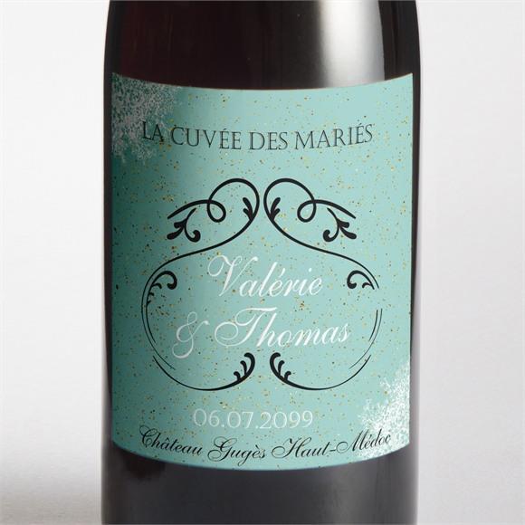 Etiquette de bouteille mariage réf. N3001059 réf.N3001059