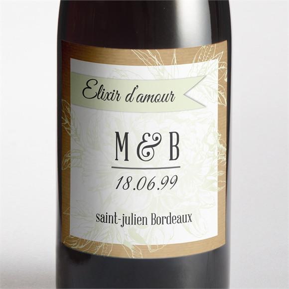 Etiquette de bouteille mariage réf. N3001060 réf.N3001060