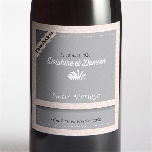 Etiquette de bouteille mariage réf. N3001062 réf.N3001062