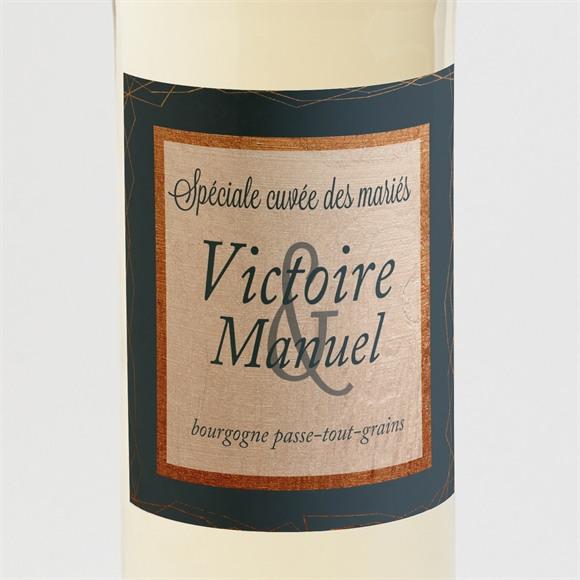 Etiquette de bouteille mariage réf. N3001064 réf.N3001064