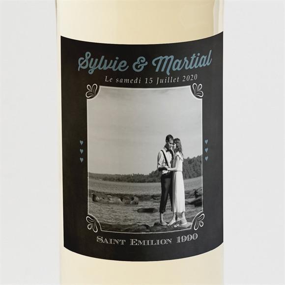 Etiquette de bouteille mariage réf. N3001063 réf.N3001063