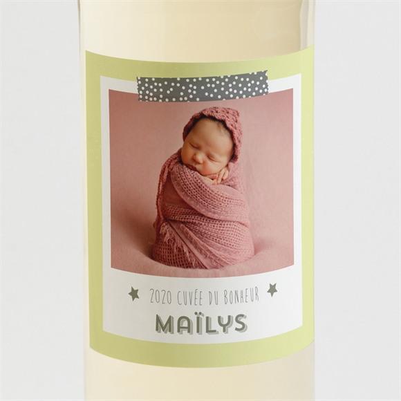 Etiquette de bouteille naissance Créatif et ludique photo réf.N3001082