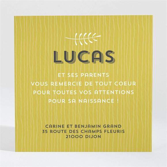 Remerciement naissance Touche de bois originale réf.N3001086