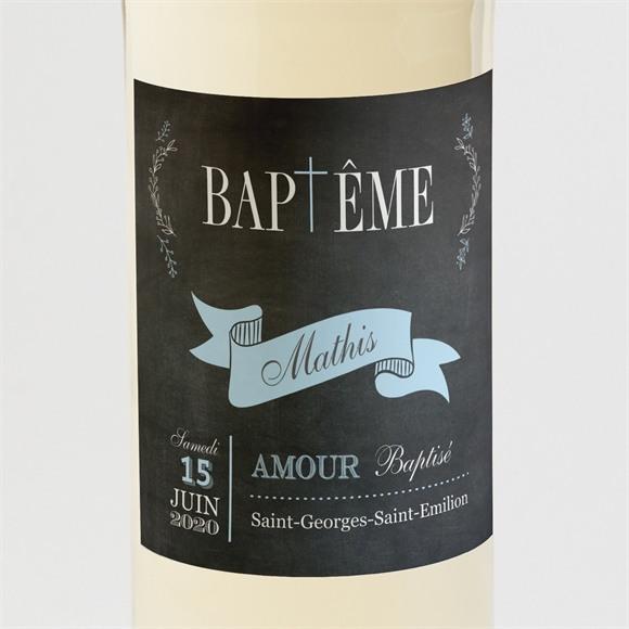 Etiquette de bouteille baptême Maison en ardoise! réf.N3001091