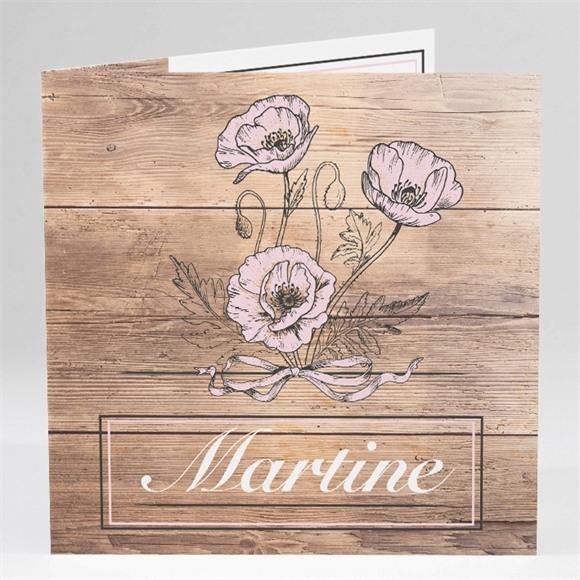 Carte invitation départ à la retraite Gravure sur bois réf.N45147