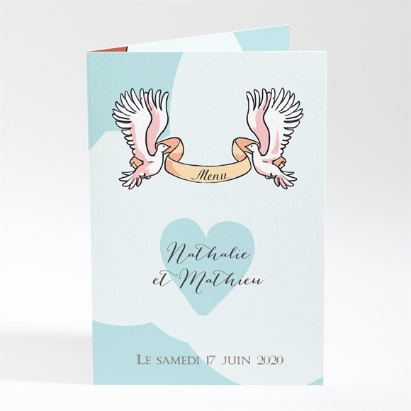 Menu mariage En Montgolfière humour réf.N401688