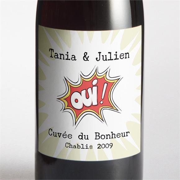 Etiquette de bouteille mariage Le Super Héros dit oui! réf.N3001115