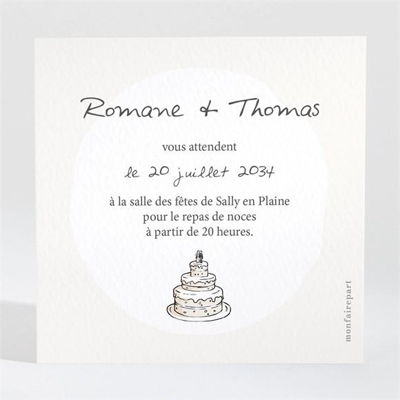 Carton d'invitation mariage Mariés illustrés réf.N3001119