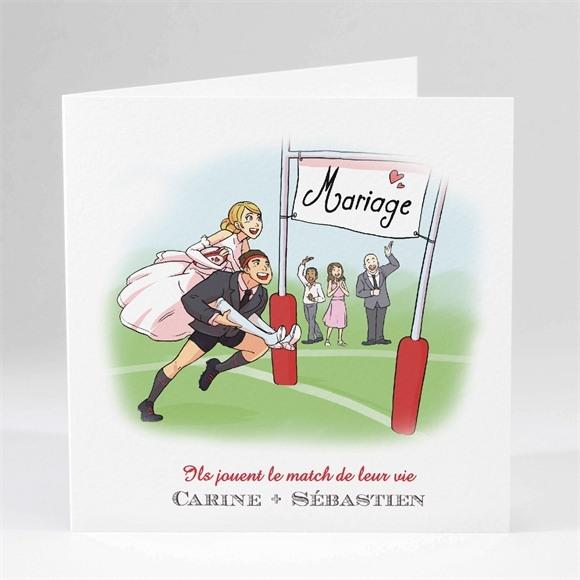 Faire-part mariage Humour et Rugby réf.N45150